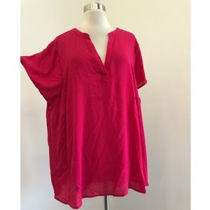 NWT Pink Torrid Georgette Pullover Blouse Size 3